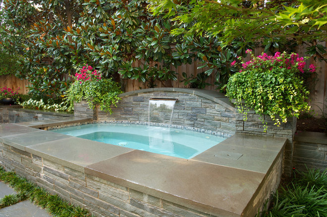 Traditional Pool by Bonick Landscaping