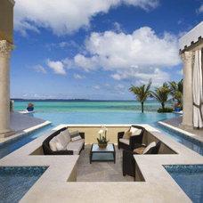Mediterranean Pool by B. Kelly Hallman - residential designer