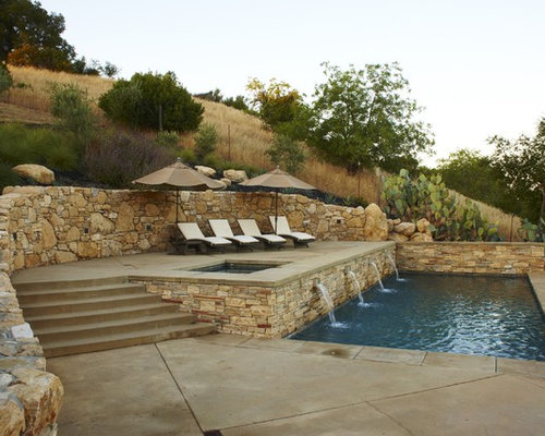Hillside pool ideas pictures remodel and decor for Pool design hillside