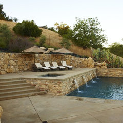 mediterranean pool Wine Country Residence