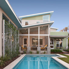 Contemporary Pool by Kailey J. Flynn Photography