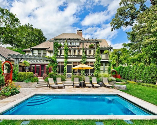 Square pool home design ideas pictures remodel and decor for Pool design houzz