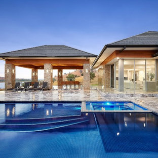 Design ideas for a transitional pool in Melbourne.