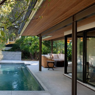 Inspiration for a midcentury swimming pool in Portland.
