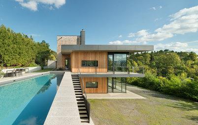 Casas Houzz: Un chalé moderno y funcional en plena naturaleza