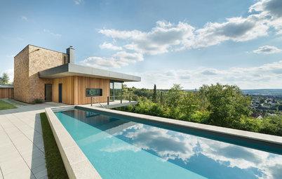 Houzzbesuch: Ein Haus am Hang – mit Pool und Blick ins Saaletal