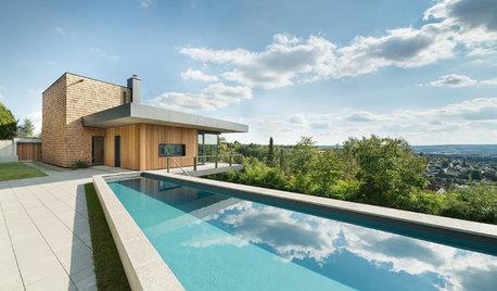 Houzz Германия: Дом с бассейном на склоне холма