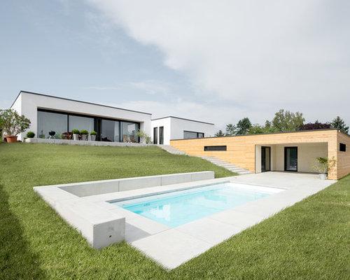 Pool Mit Poolhaus: Design-ideen, Bilder & Beispiele | Houzz 18 Ideen Inspirationen Pool Im Haus