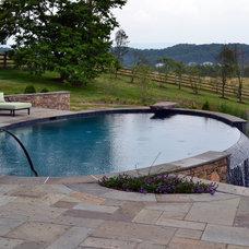 Modern Pool by quinn craughwell landscape architects, pllc
