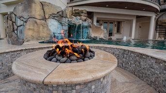Wonderful Residential Backyard Waterfall Grotto