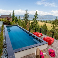 Contemporary Pool by VC Decor