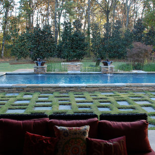 Mountain style pool photo in New Orleans