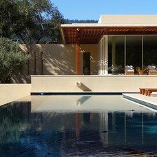 Modern Pool by J G Plastering, Inc.