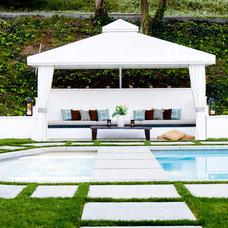 Contemporary Pool by Allison Knizek Design for Prescott Properties