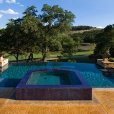Contemporary Pool by Blue Haven Pools of Austin