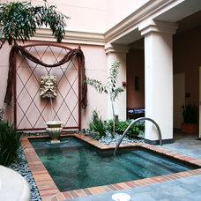 Mediterranean Pool by Montgomery Roth Architecture & Interior Design