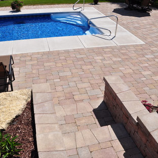 Yorkville - Inground Pool with Paver Patio  & Outdoor Living Area