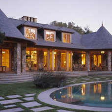 Traditional Pool by ZAK Architecture