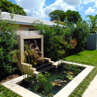 Zen Water Feature With Small Pond in Boca Raton, Florida