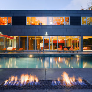 Imagen de piscina urbana rectangular