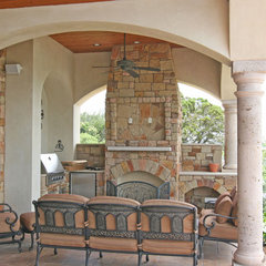 mediterranean porch by HAJEK & Associates, Inc.