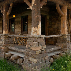 Traditional Porch by Magleby Construction