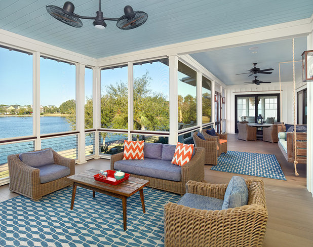 Beach Style Porch by Cobb Architects