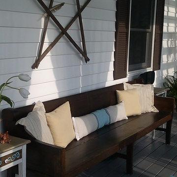 1920s Farmhouse Side Porch Refresh