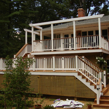 2 Story Deck with Trellis and Swing