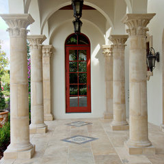 mediterranean porch by Keesee and Associates, Inc.