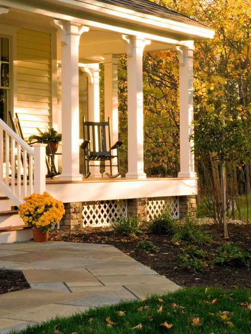 Traditional Exterior Front Porch Design Pictures Remodel Decor And Ideas Soooo Pretty: Lattice Under Porch Home Design Ideas, Pictures, Remodel And Decor