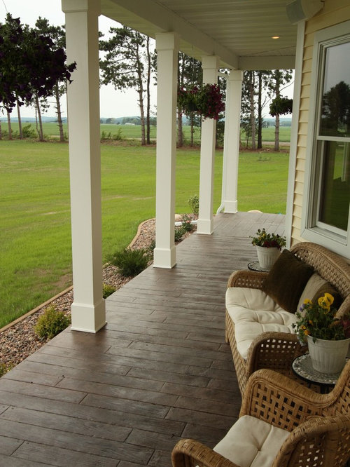 Concrete Porch Houzz