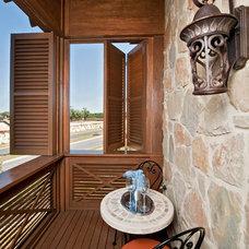 Mediterranean Porch by Jenkins Custom Homes