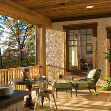 rustic porch by Witt Construction