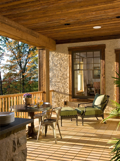 rustic veranda home design ideas pictures remodel and decor casas r 250 sticas