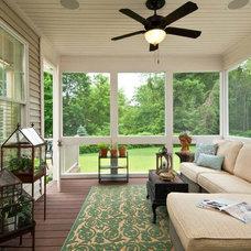 Traditional Porch by Plum and Crimson Fine Interior Design