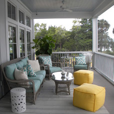 Beach Style Porch by Our Town Plans