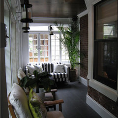 eclectic porch by 3 Doors Down Home Staging & Interior Redesign