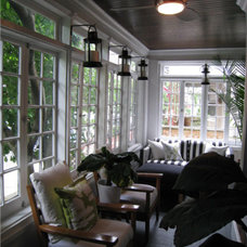 Eclectic Porch by Design Shop - Interiors & Staging