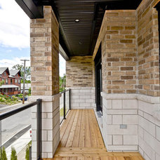 Modern Porch by Masterplan Residential Drafting and Design