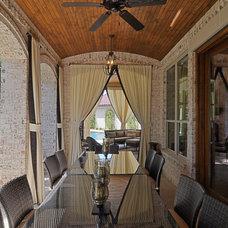 Mediterranean Porch by Larry Stewart Custom Homes