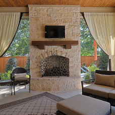 Mediterranean Porch by Larry Stewart Custom Homes