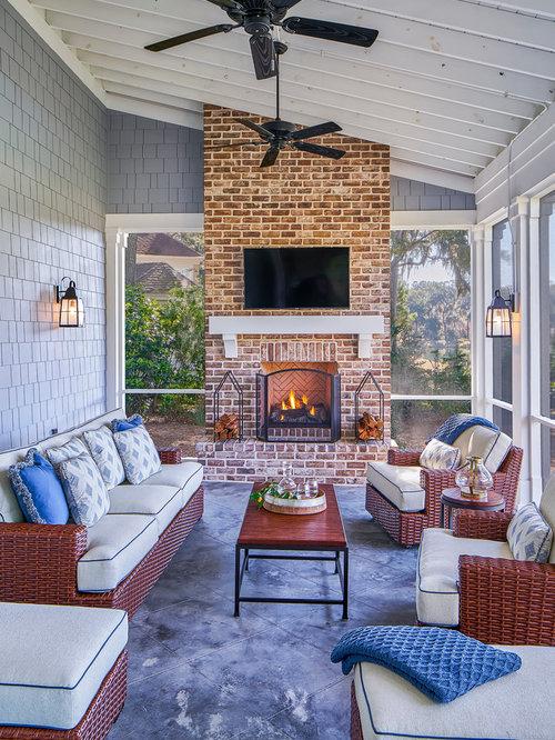 Veranda Design Ideas, Renovations & Photos with Tiled Flooring