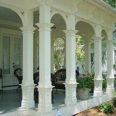 Traditional Porch by John Marshall Custom Homes
