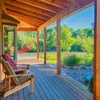 North Georgia Log Cabin Front Porch