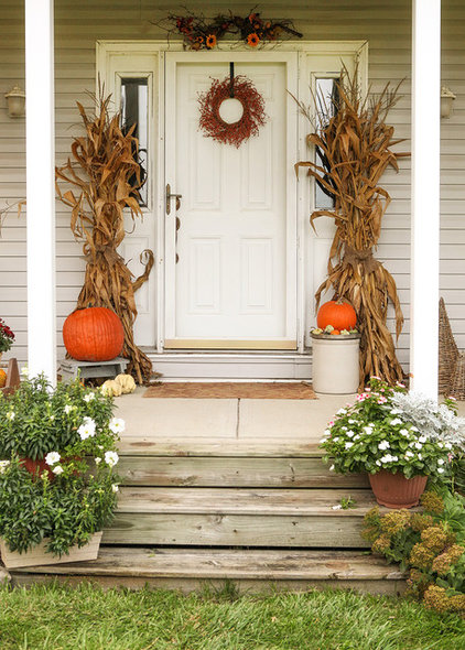 porch cornstalks