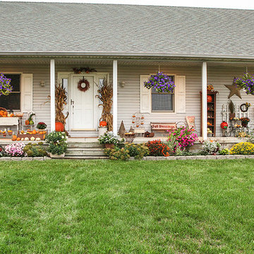 A Peek at 2 Prettily Dressed Fall Porches