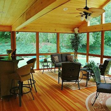 A true three-season porch in Southington, CT