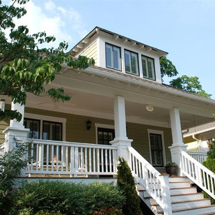 This is an example of a craftsman front porch design in Atlanta.