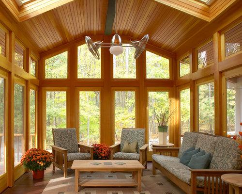 Best three season porch design ideas remodel pictures for Craftsman screened porch